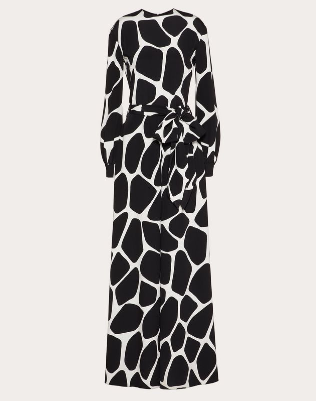 Printed Cady Jumpsuit