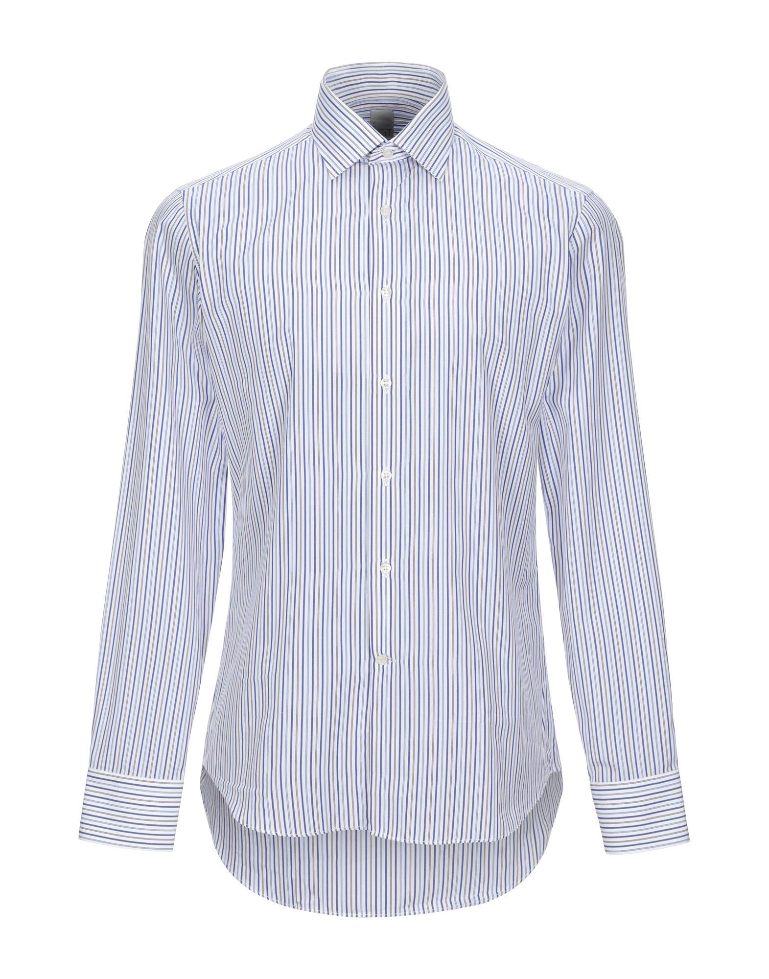 《セール開催中》CIT LUXURY メンズ シャツ アジュールブルー 39 コットン 100%
