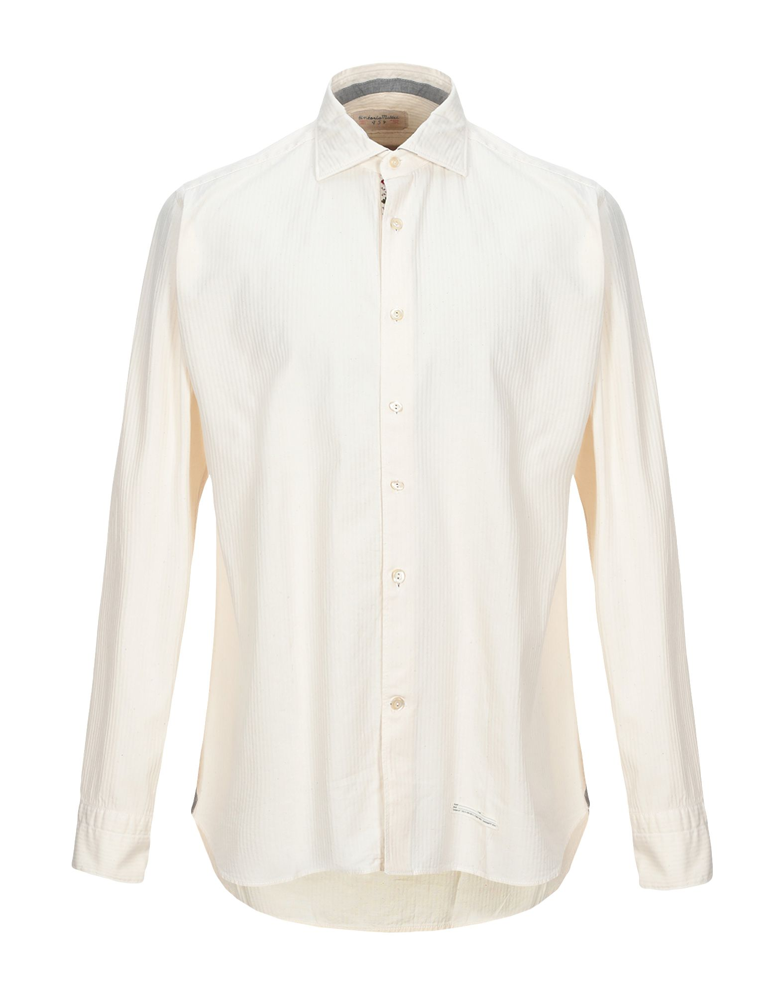 《セール開催中》TINTORIA MATTEI 954 メンズ シャツ ベージュ 43 コットン 100%
