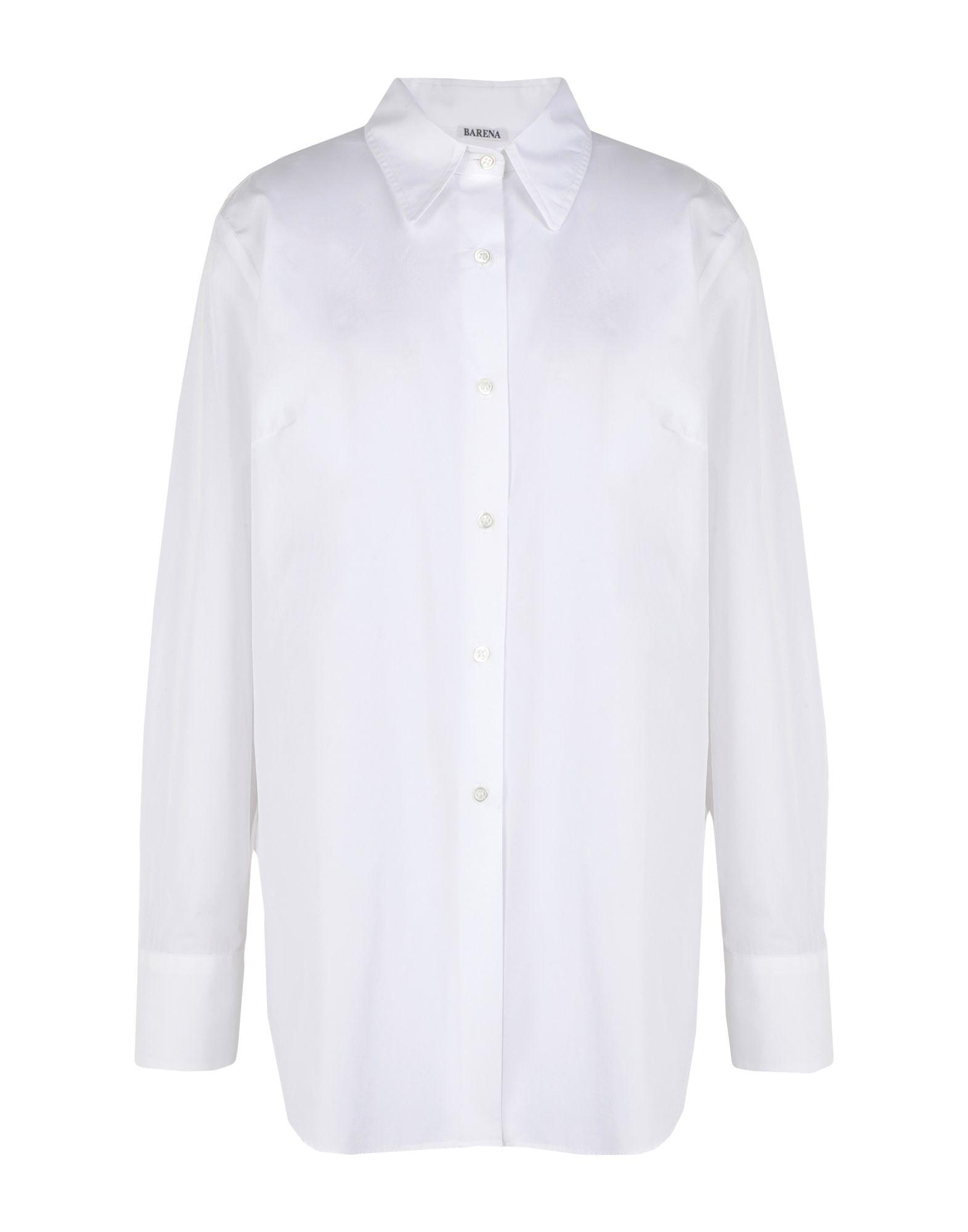 《セール開催中》BARENA レディース シャツ ホワイト 46 コットン 100%