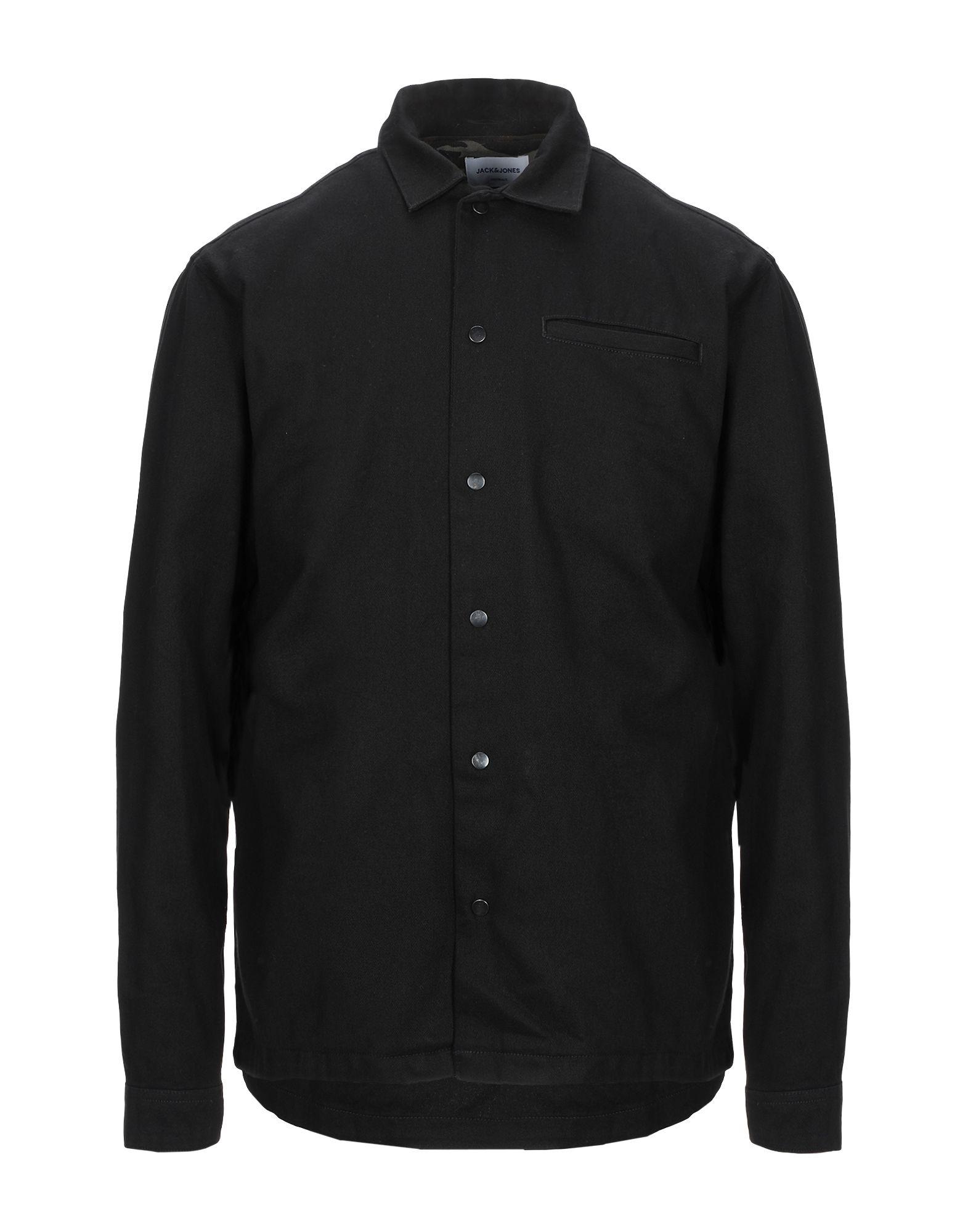 《期間限定セール開催中!》JACK & JONES ORIGINALS メンズ シャツ ブラック S コットン 100%