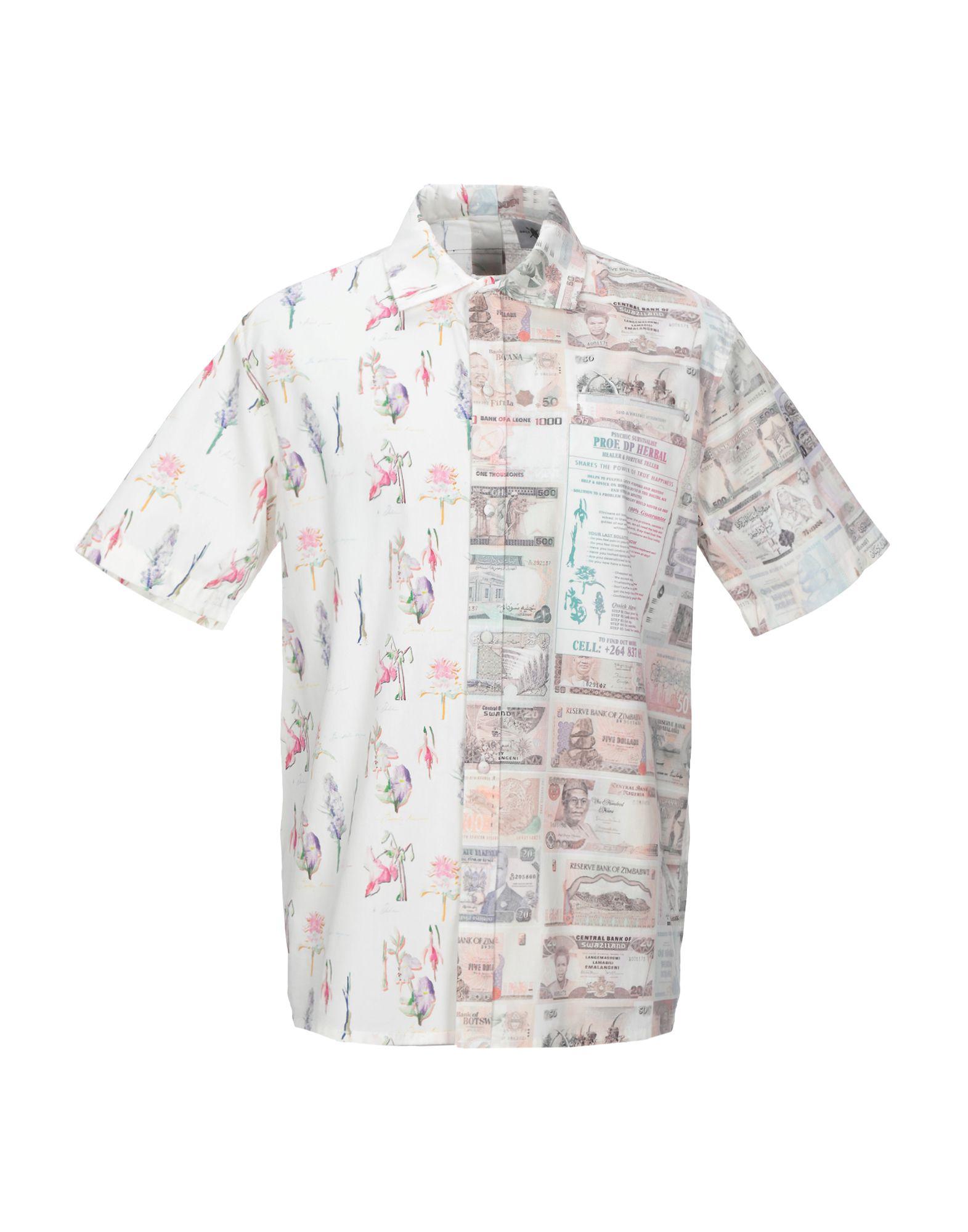 《セール開催中》DAILY PAPER メンズ シャツ ホワイト S コットン 100%