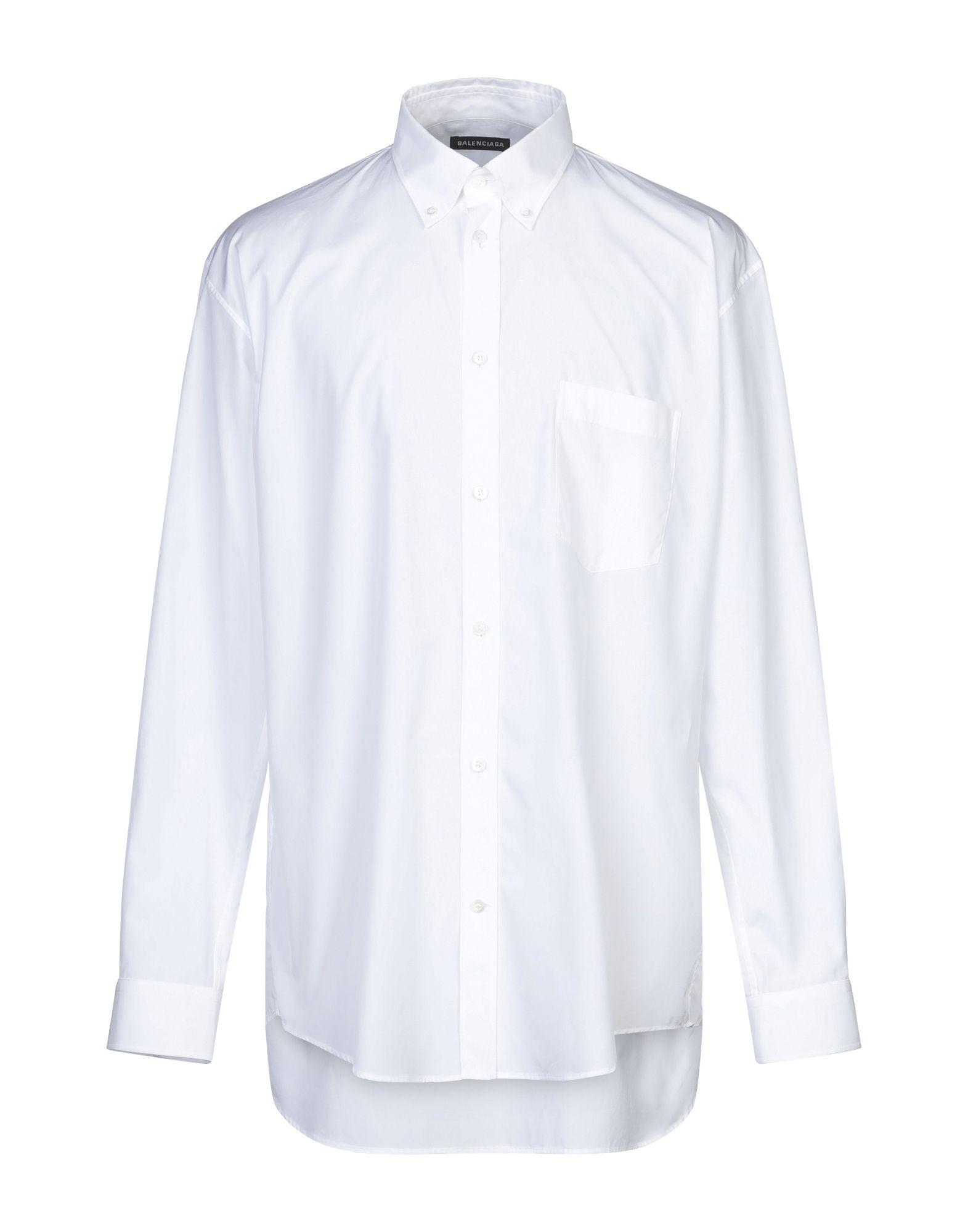 《セール開催中》BALENCIAGA メンズ シャツ ホワイト 39 コットン 100%
