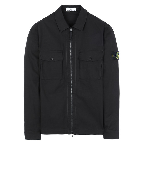 STONE ISLAND 11814 OVER SHIRT Man Black