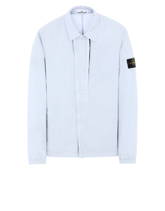 STONE ISLAND 10408 OVER SHIRT Man Sky Blue