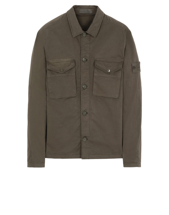 STONE ISLAND 123F2 GHOST PIECE  OVER SHIRT Man Military Green