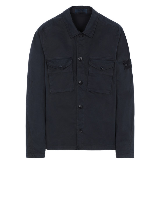 STONE ISLAND 123F2 GHOST PIECE  OVER SHIRT Man Blue