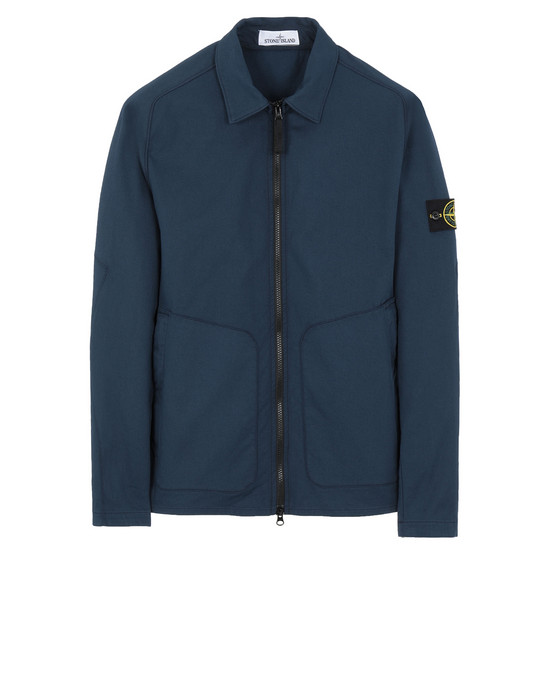 STONE ISLAND 11905 OVER SHIRT Man Marine Blue