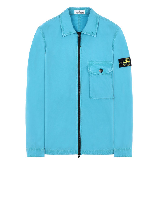 STONE ISLAND 114WN T.CO+OLD OVER SHIRT Man Turquoise