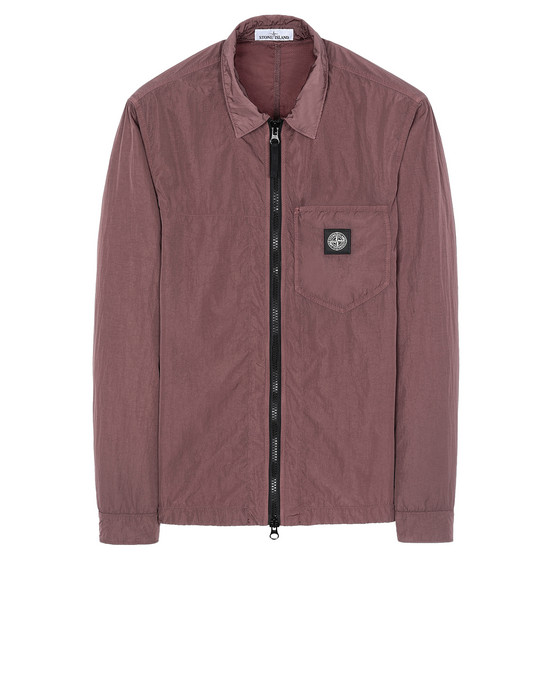 STONE ISLAND 106J2 NYLON TELA-TC OVER SHIRT Man MAHOGANY BROWN