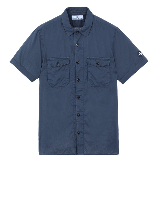 STONE ISLAND 12715 Short sleeve shirt Man Marine Blue