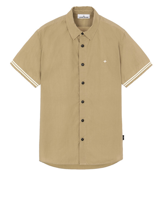 STONE ISLAND 12110 Short sleeve shirt Man Dark Beige