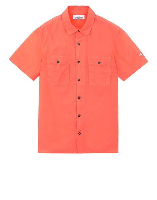 STONE ISLAND 12710 Short sleeve shirt Man Lobster Red