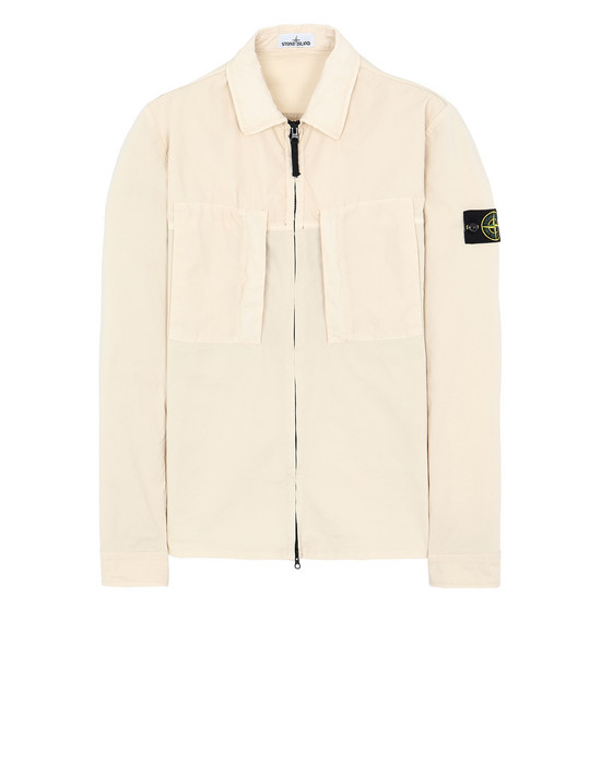 STONE ISLAND 10207 OVER SHIRT Man Beige