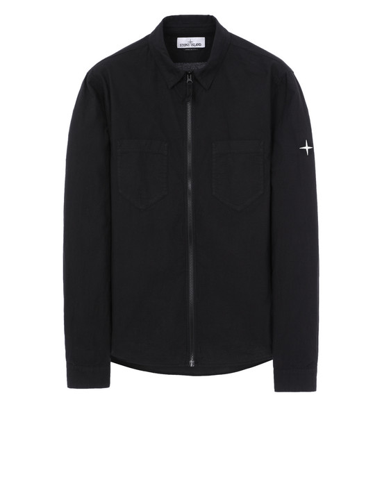 STONE ISLAND 12403 Long sleeve shirt Man Black