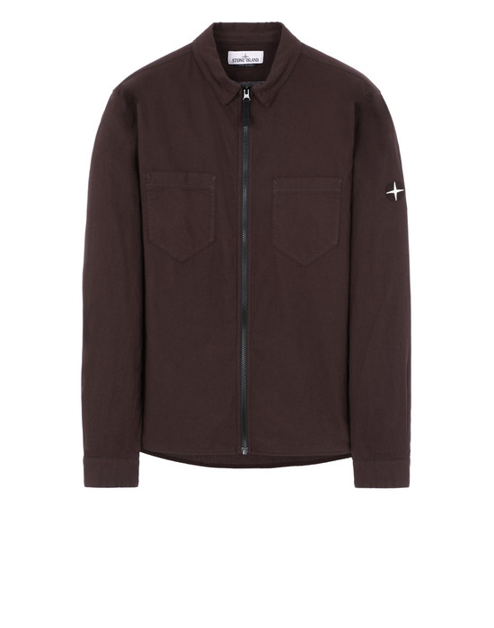 STONE ISLAND 12403 Long sleeve shirt Man Dark Brown