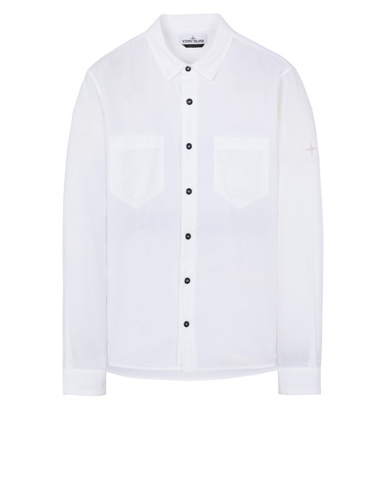 STONE ISLAND 11203 Long sleeve shirt Man White