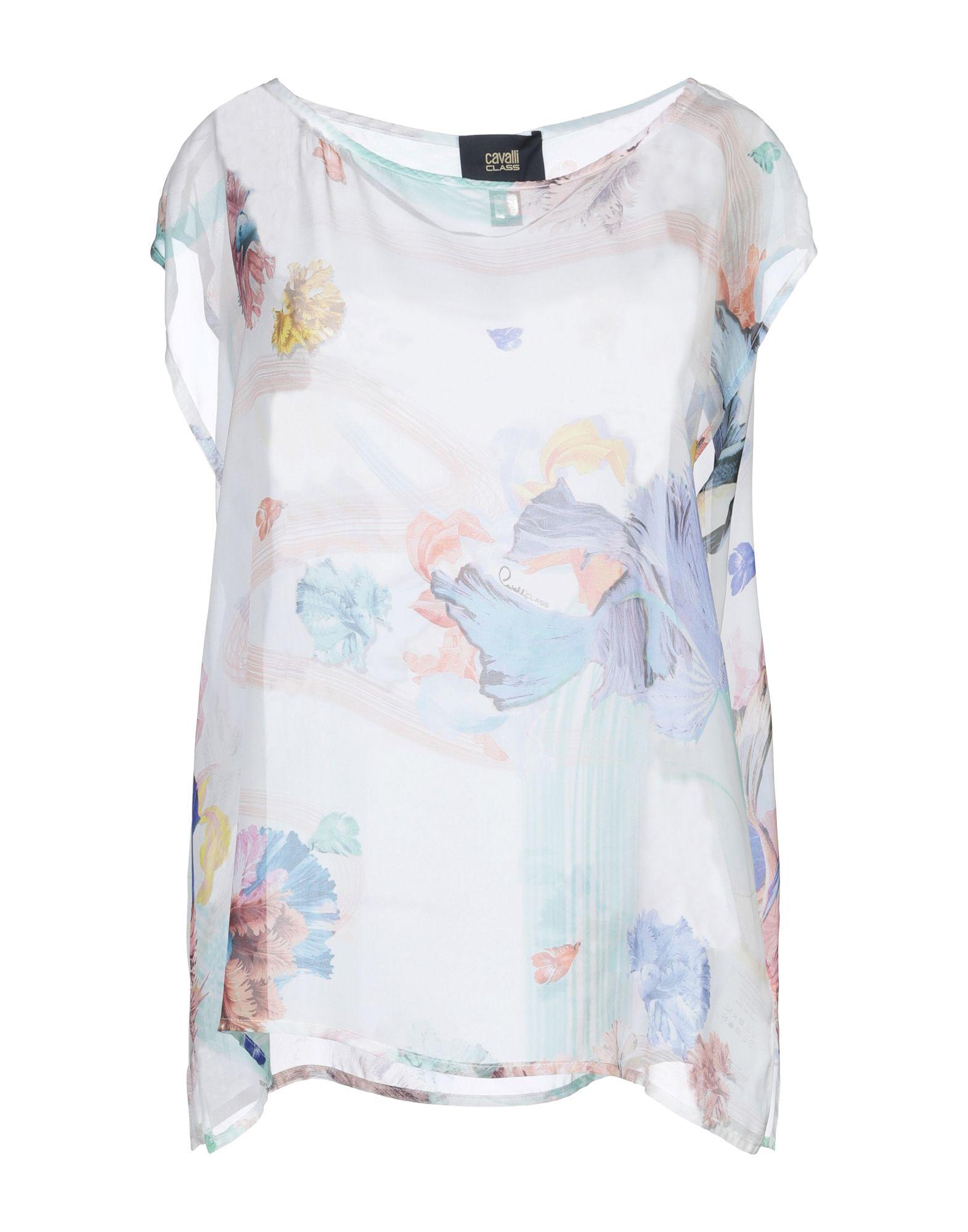 CAVALLI CLASS Блузка шифоновая блузка в цветочный принт
