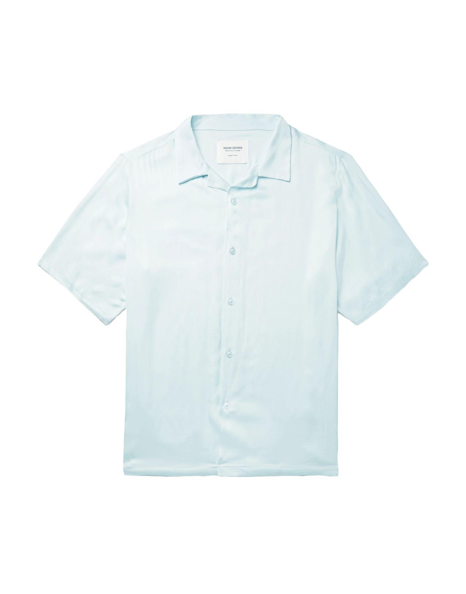《セール開催中》NOON GOONS メンズ シャツ スカイブルー S コットン 100%