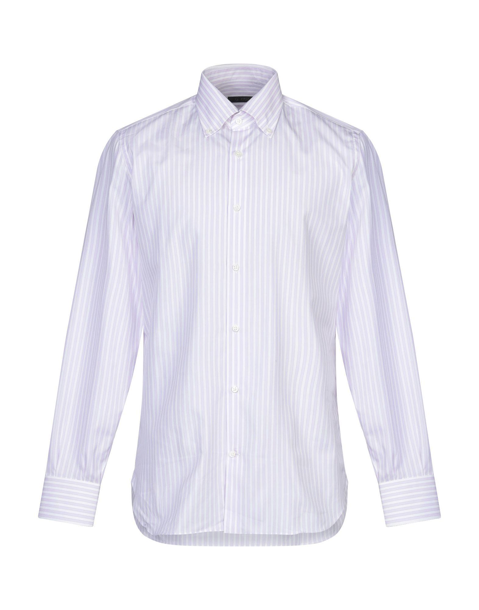 《セール開催中》G.1951 メンズ シャツ ライラック 40 コットン 100%