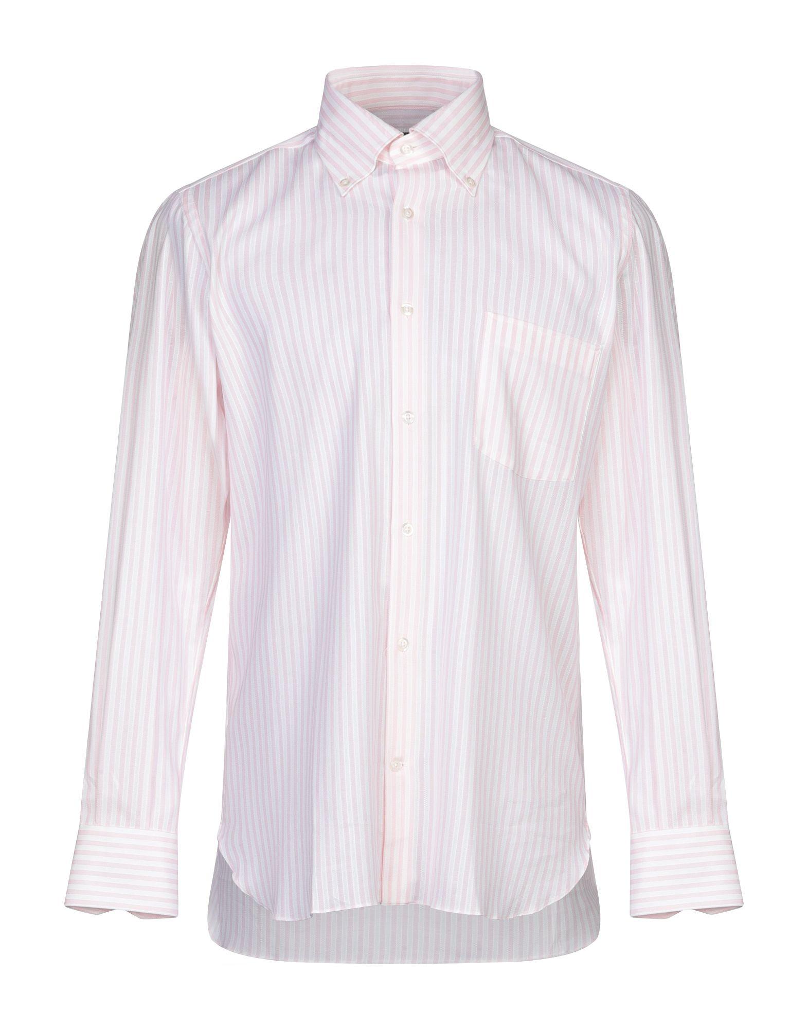 《セール開催中》G.1951 メンズ シャツ ピンク 40 コットン 100%