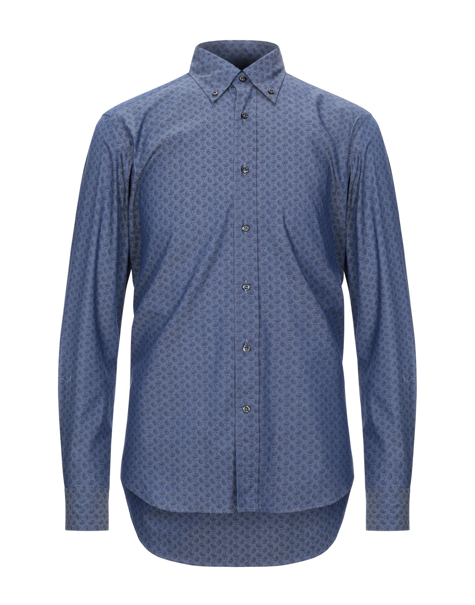 《セール開催中》ANDREA ZENI メンズ シャツ ブルー 40 コットン 100%