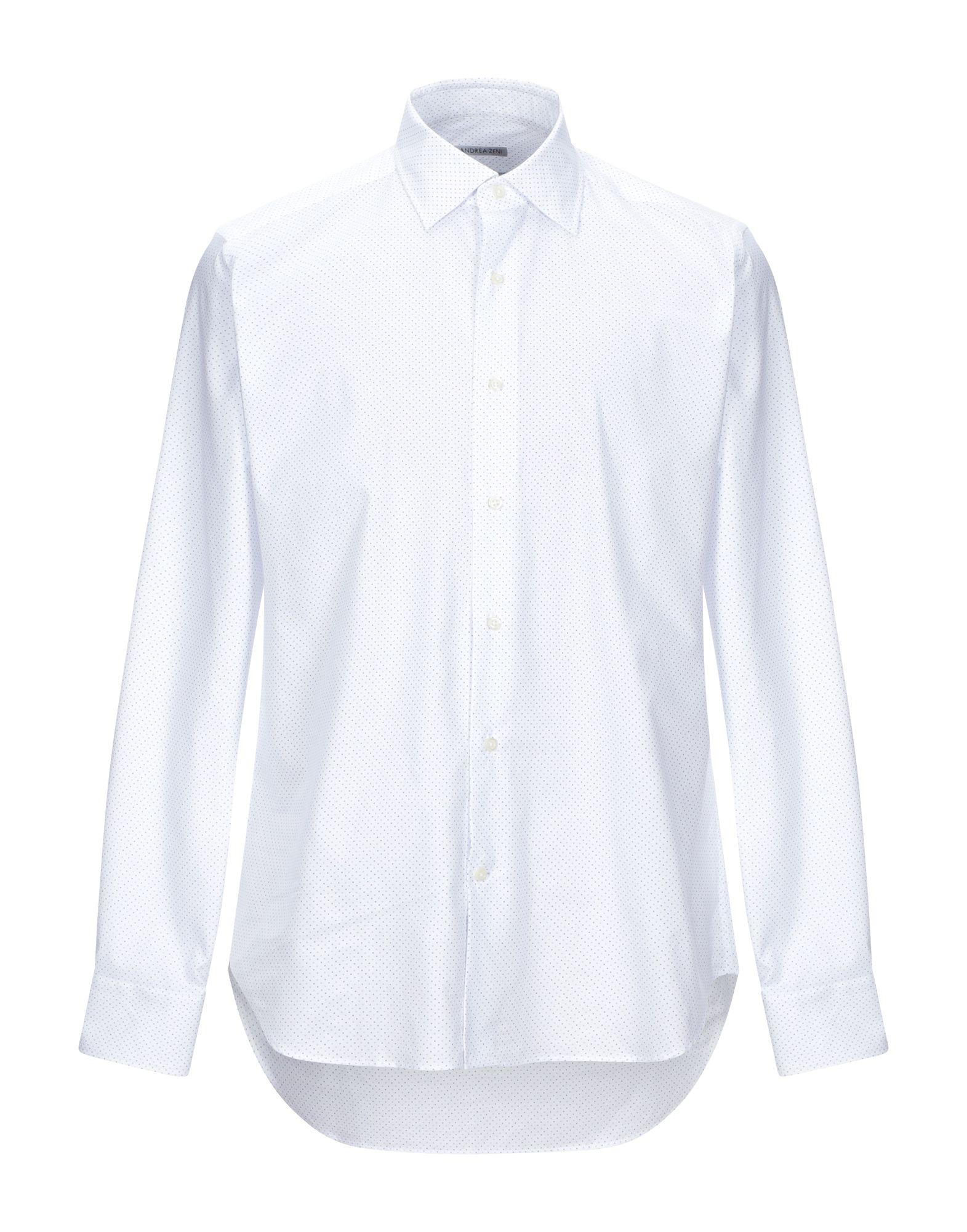 《セール開催中》ANDREA ZENI メンズ シャツ ホワイト 40 コットン 100%