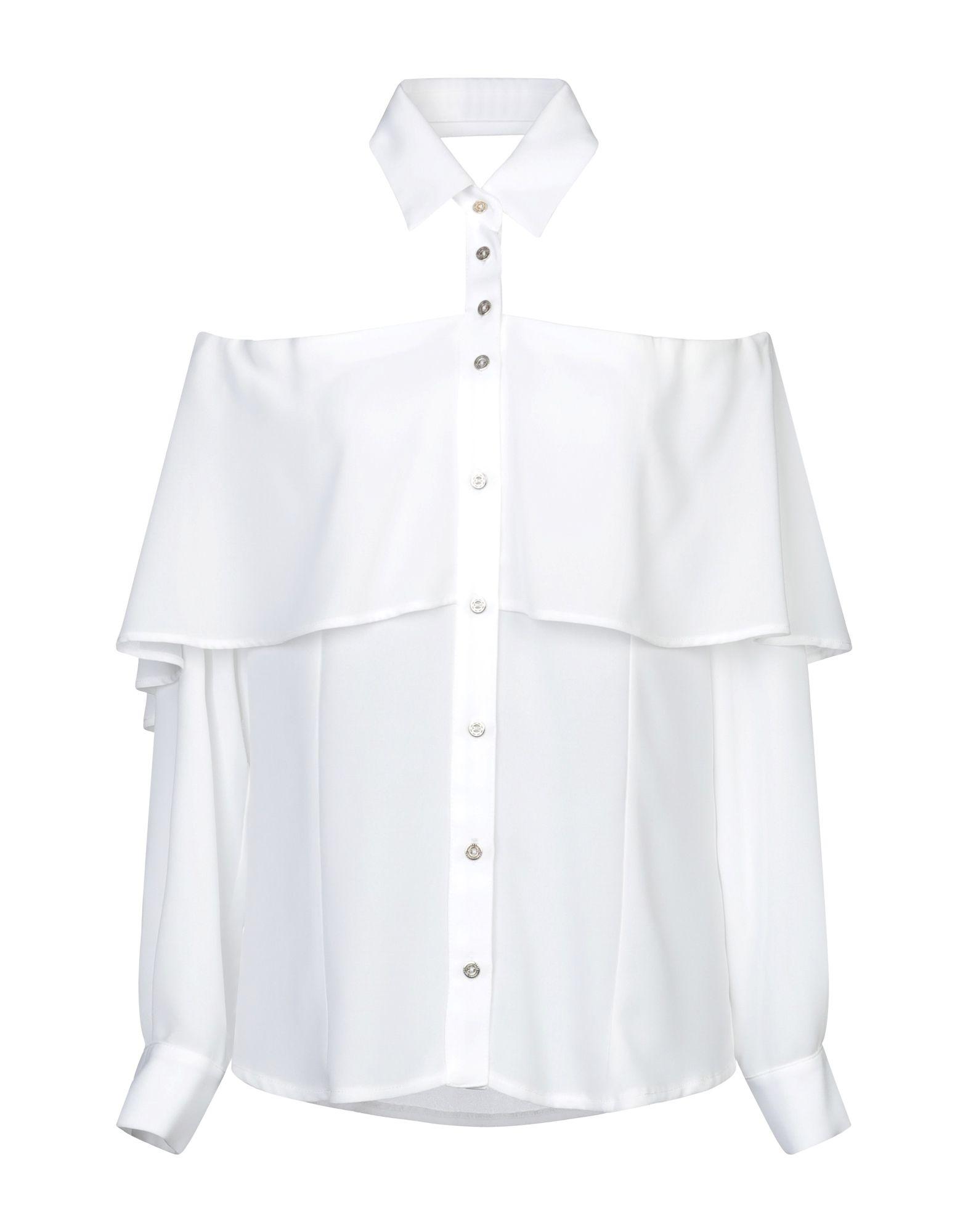 《セール開催中》EUREKA by BABYLON レディース シャツ ホワイト 40 レーヨン 50% / ナイロン 50%