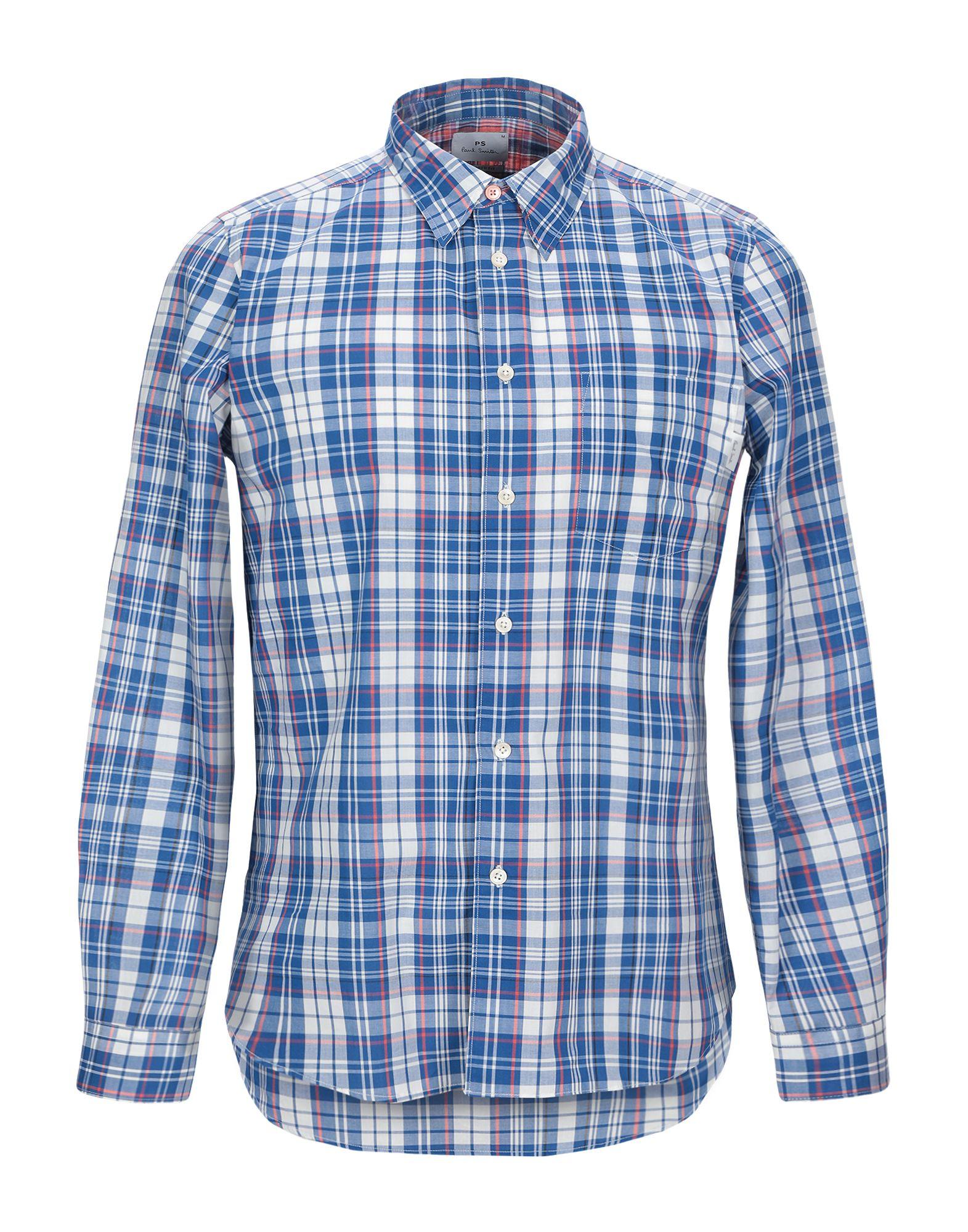 《セール開催中》PS PAUL SMITH メンズ シャツ ブルー M コットン 100%