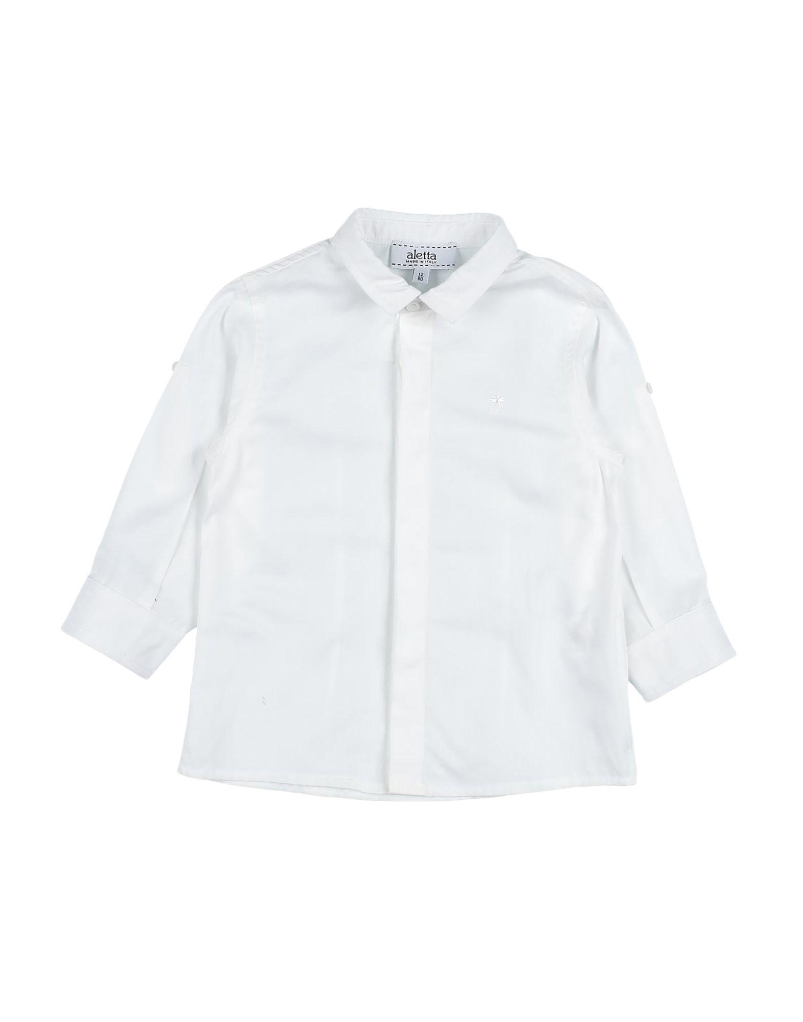 《セール開催中》ALETTA ボーイズ 0-24 ヶ月 シャツ ホワイト 12 コットン 100%
