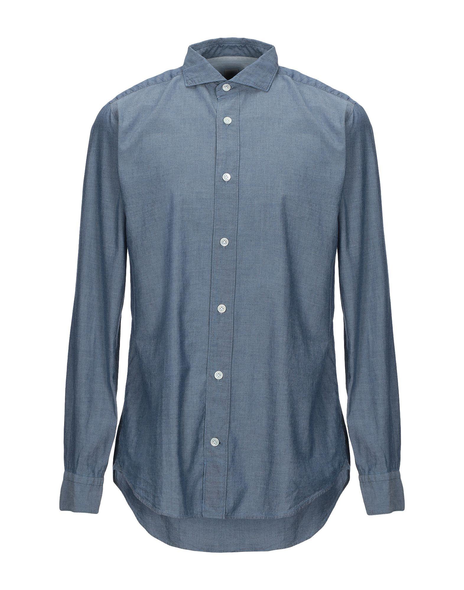 《セール開催中》ELEVENTY メンズ シャツ ブルーグレー 40 コットン 100%