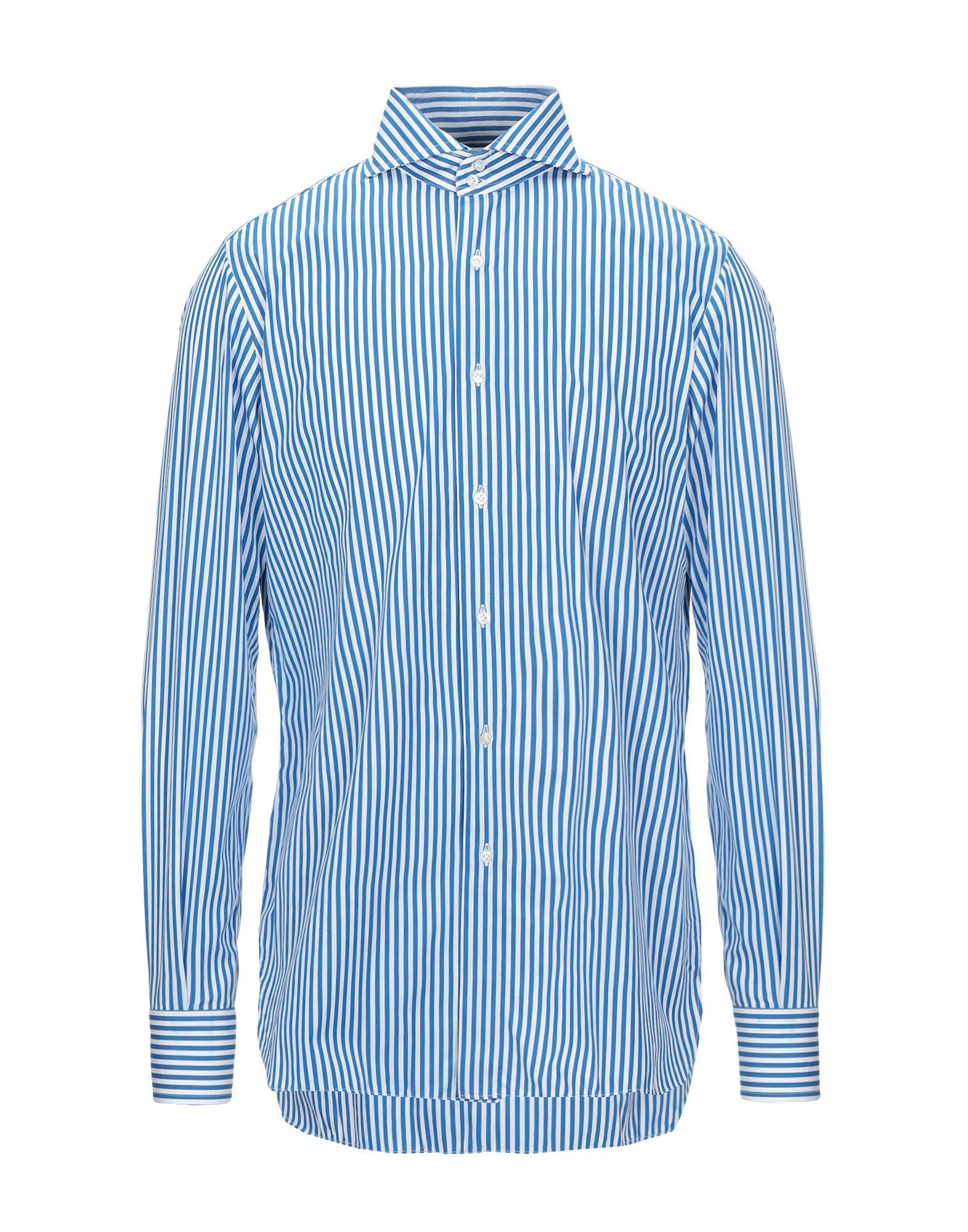 《セール開催中》STILE LATINO メンズ シャツ ブルー 43 コットン 100%