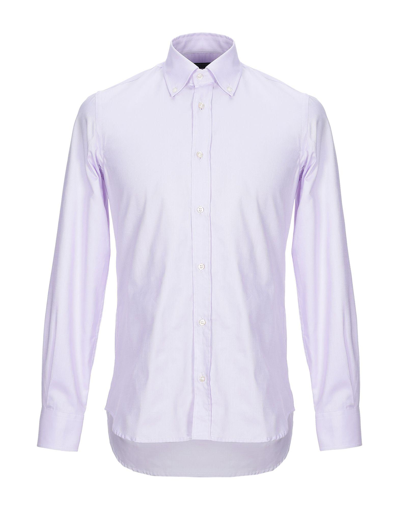 《セール開催中》AVIGNON メンズ シャツ ライラック 39 コットン 100%