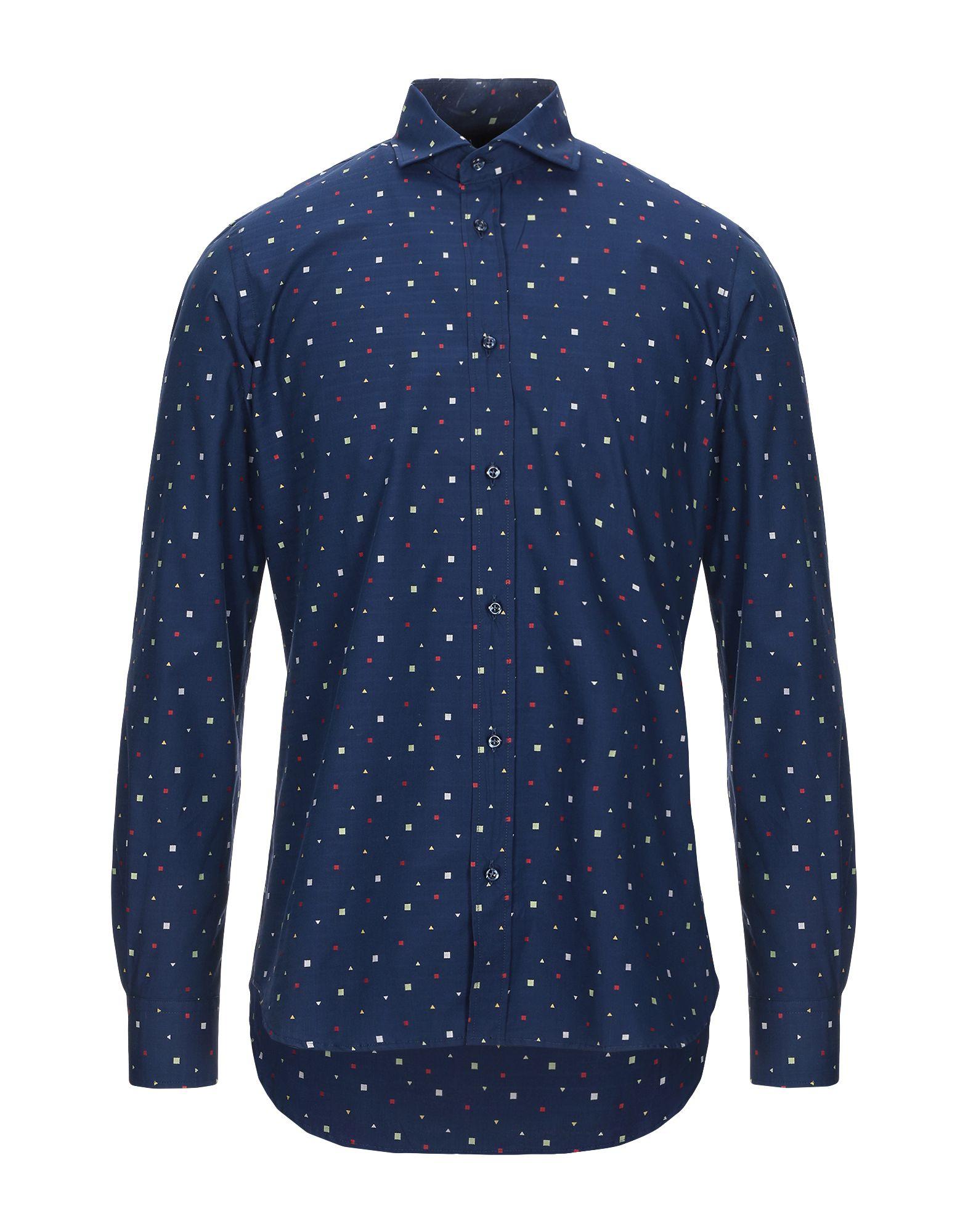 《セール開催中》AVIGNON メンズ シャツ ダークブルー 40 コットン 100%