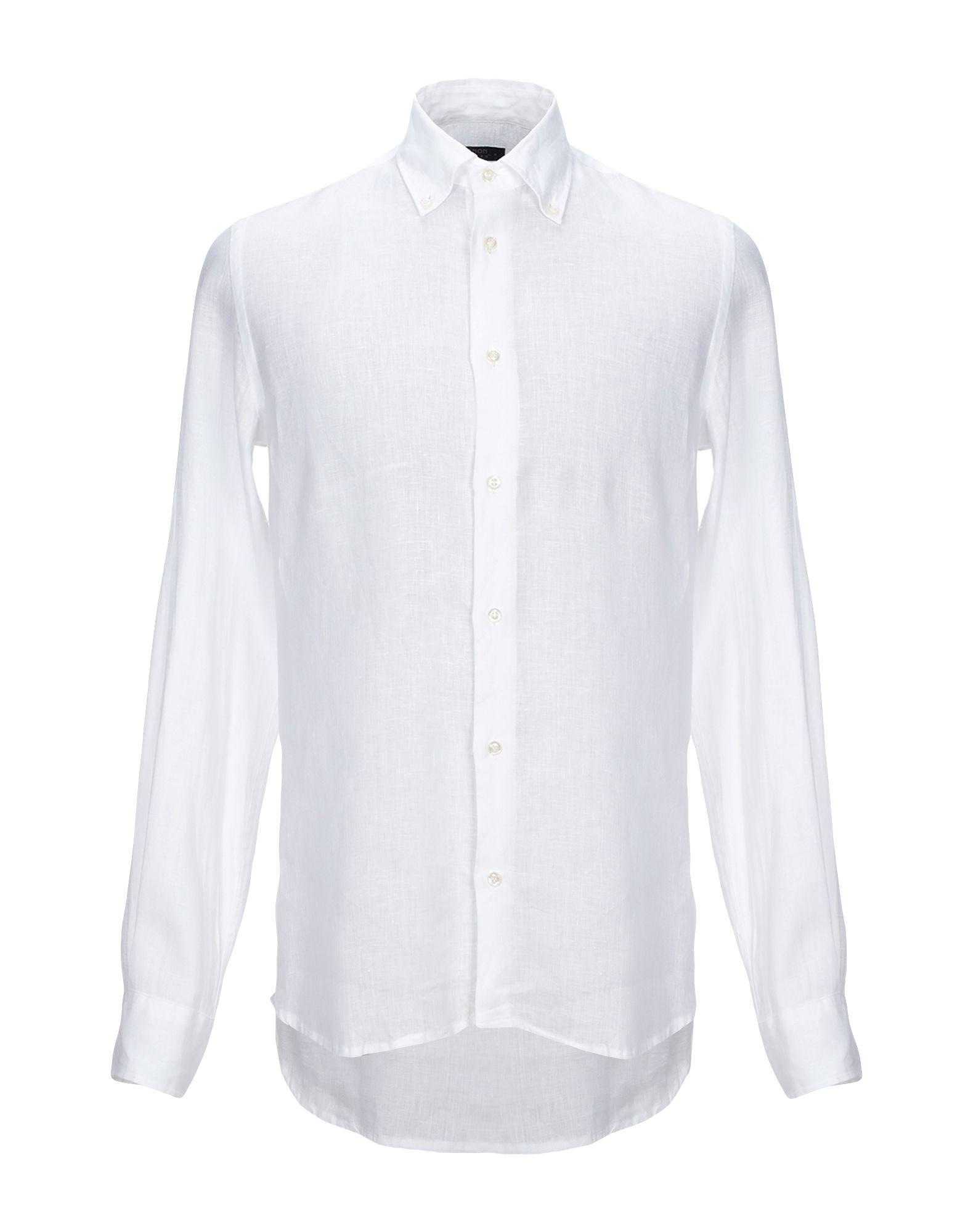 《セール開催中》AVIGNON メンズ シャツ ホワイト 39 麻 100%