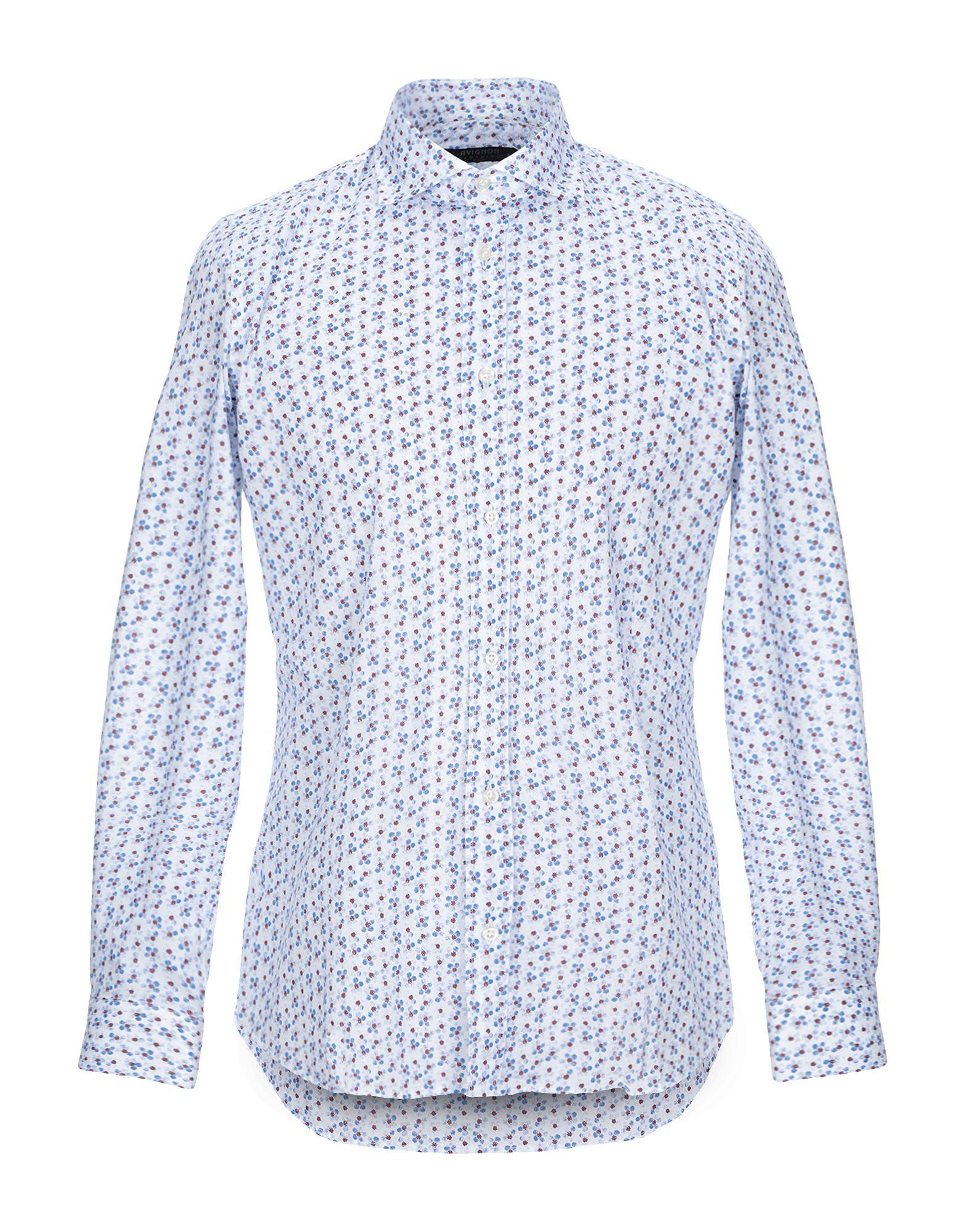 《セール開催中》AVIGNON メンズ シャツ ホワイト 40 コットン 100%