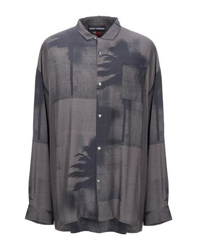 Фото - Pубашка от DOUBLE RAINBOUU свинцово-серого цвета