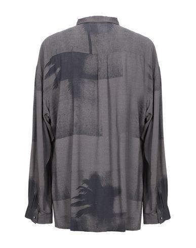 Фото 2 - Pубашка от DOUBLE RAINBOUU свинцово-серого цвета