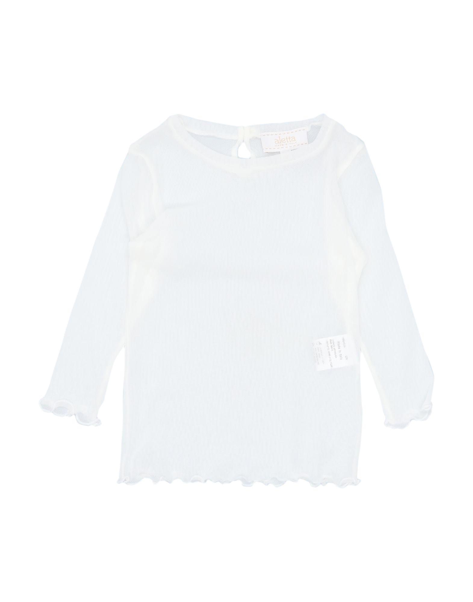 《セール開催中》ALETTA ガールズ 0-24 ヶ月 ブラウス ホワイト 9 ナイロン 100%