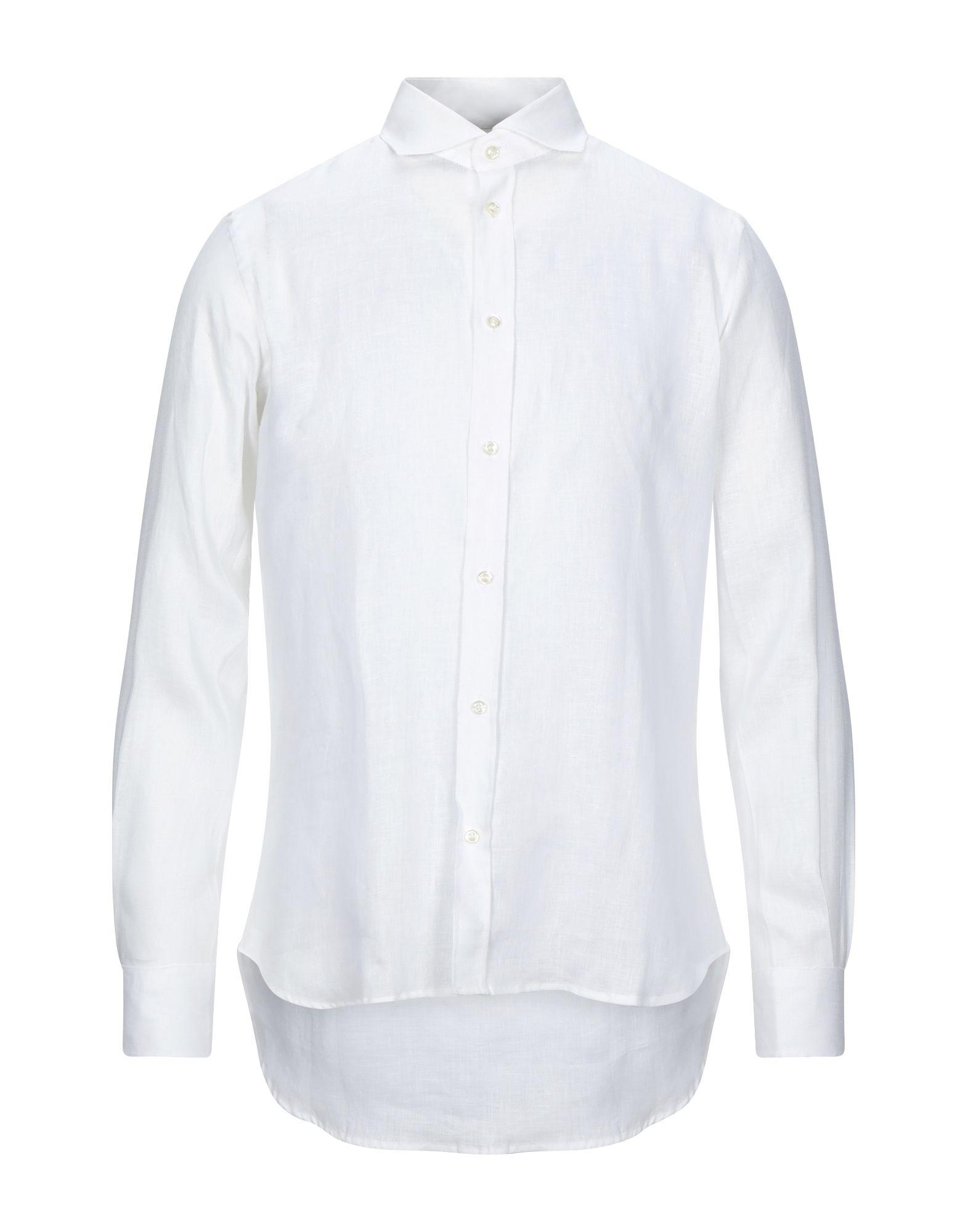 《セール開催中》AVIGNON メンズ シャツ ホワイト 40 麻 100%