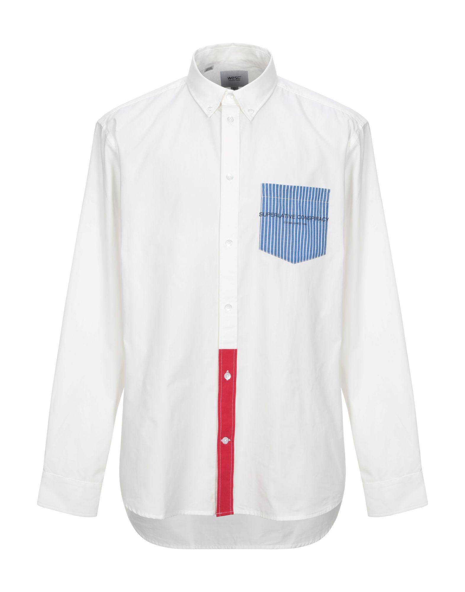 《セール開催中》WESC メンズ シャツ ホワイト S コットン 100%