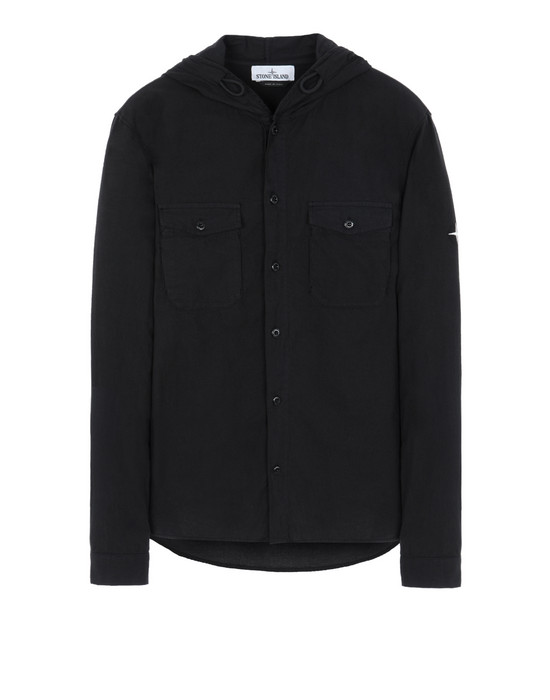 STONE ISLAND 10203 Long sleeve shirt Man Black