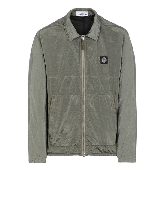 STONE ISLAND 11036 NYLON METAL RIPSTOP + RETE ISOLANTE-TC OVER SHIRT Man Olive Green