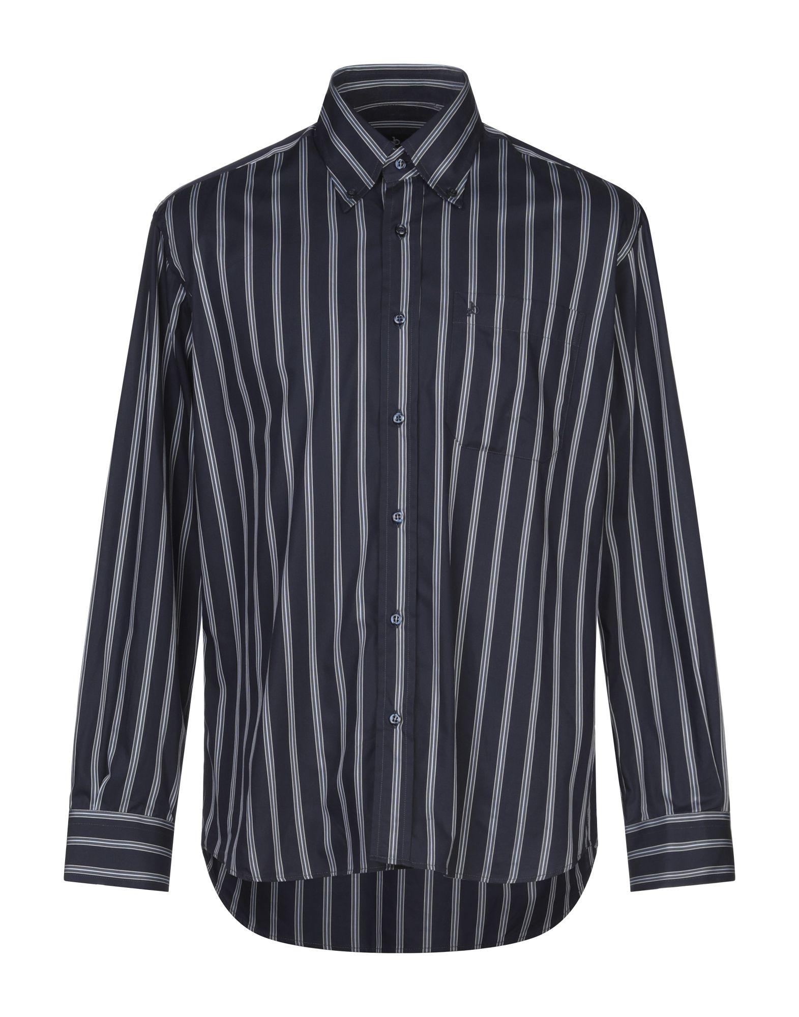 《セール開催中》ROCCOBAROCCO メンズ シャツ ダークブルー 39 コットン 100%