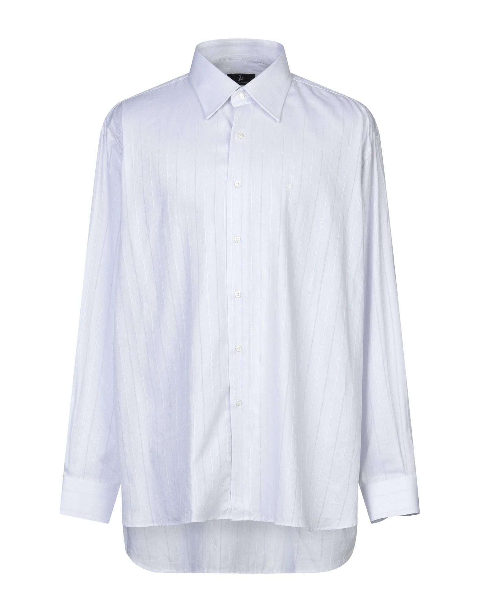 《セール開催中》ROCCOBAROCCO メンズ シャツ ホワイト 47 コットン 100%