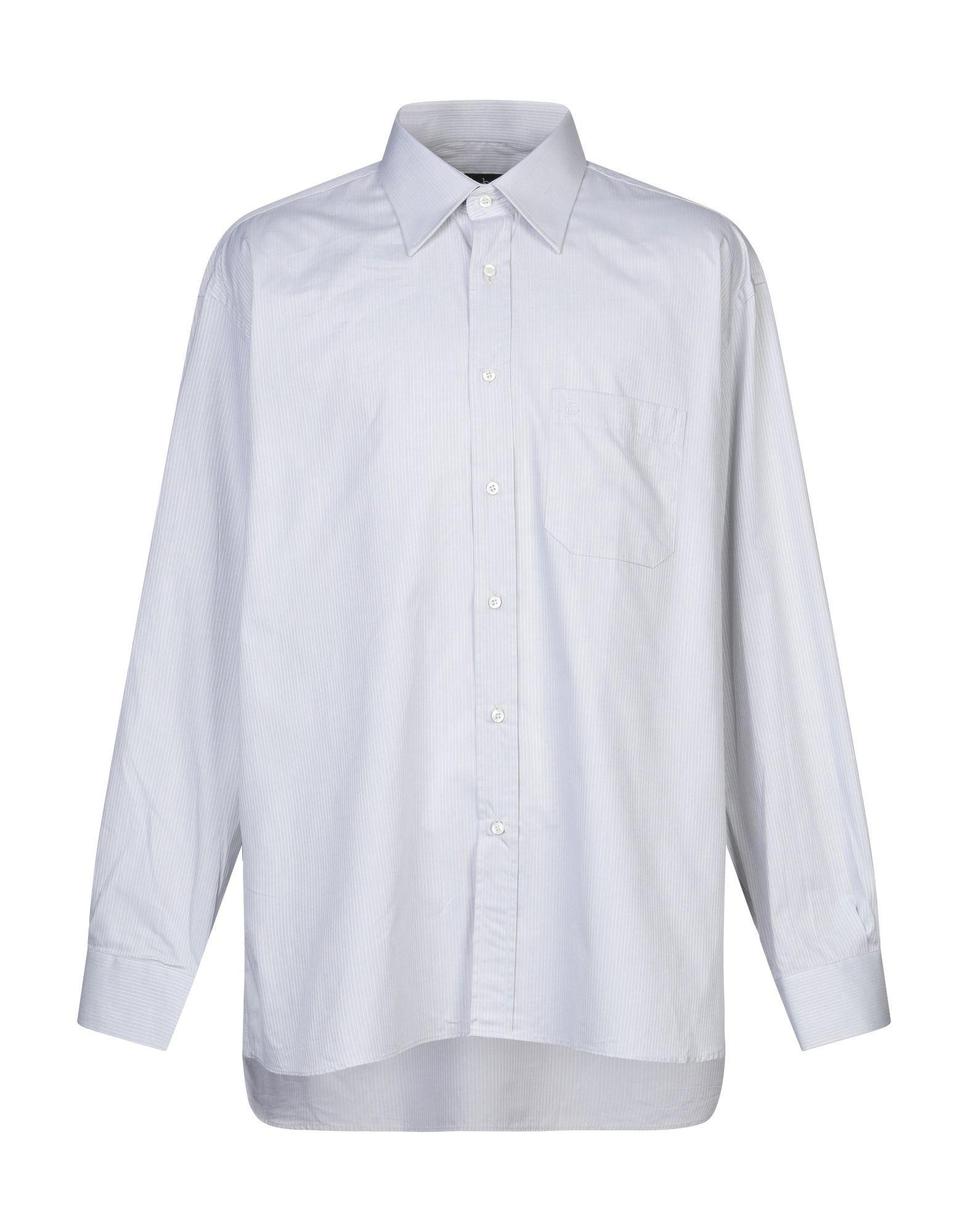 《セール開催中》ROCCOBAROCCO メンズ シャツ ライトグレー 47 コットン 100%