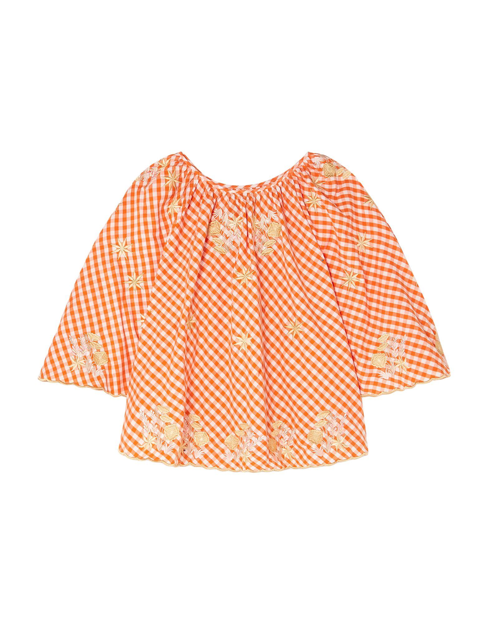 《セール開催中》INNIKA CHOO レディース ブラウス オレンジ one size コットン 100%