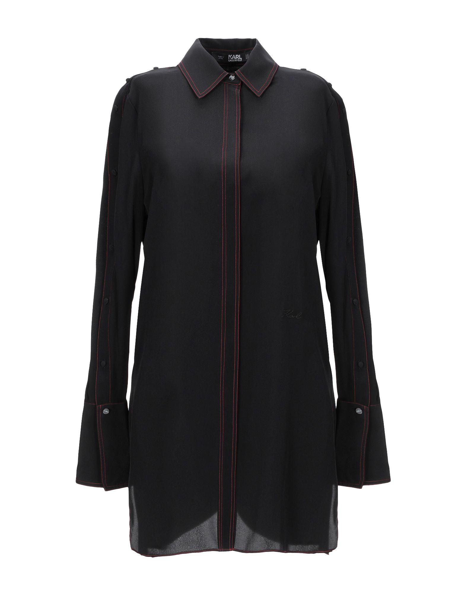 《セール開催中》KARL LAGERFELD レディース シャツ ブラック 40 シルク 100%