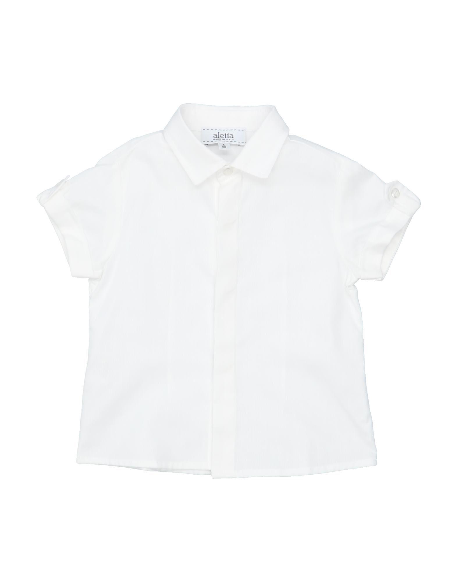 《セール開催中》ALETTA ボーイズ 0-24 ヶ月 シャツ ホワイト 6 コットン 100%