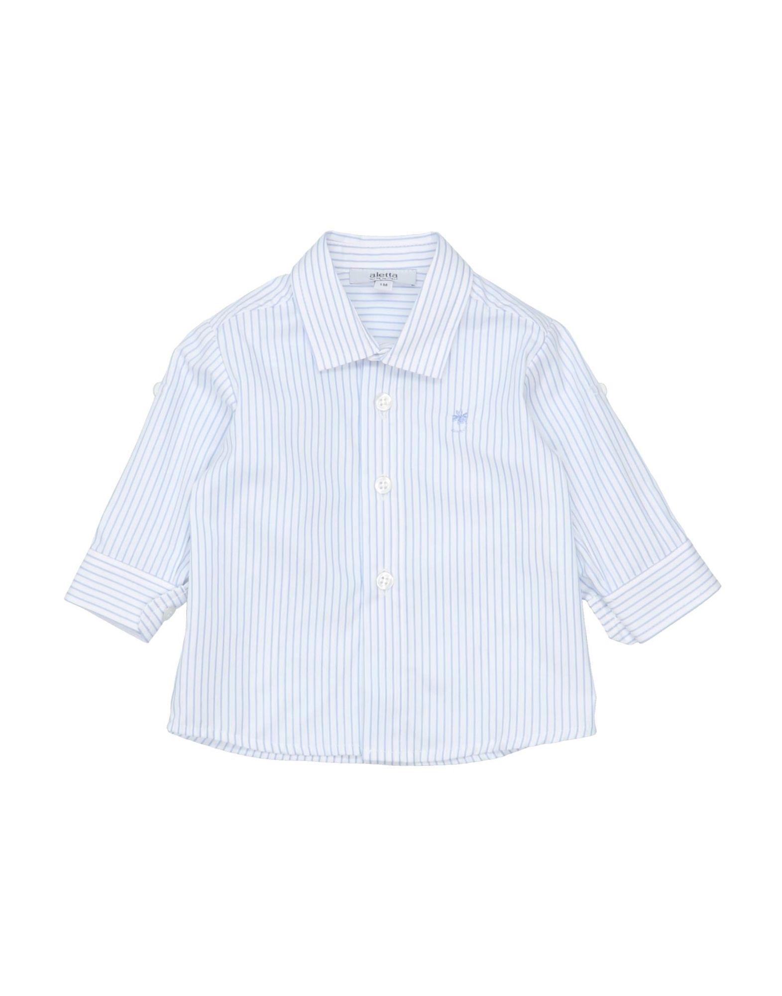 《セール開催中》ALETTA ボーイズ 0-24 ヶ月 シャツ スカイブルー 1 コットン 100%